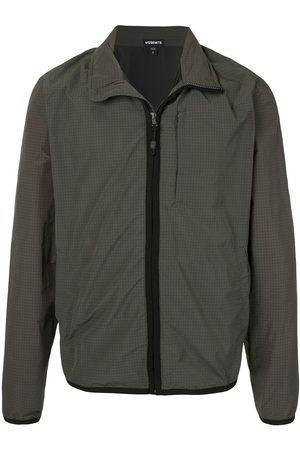 James Perse Grid-print hooded jacket
