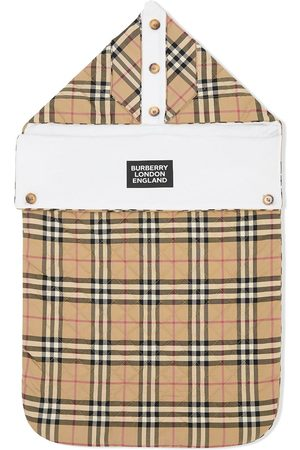 Burberry Logo print check baby nest - Neutrals