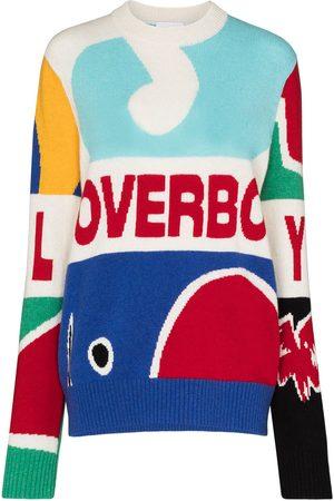Charles Jeffrey Loverboy Intarsia-knit logo-detail jumper