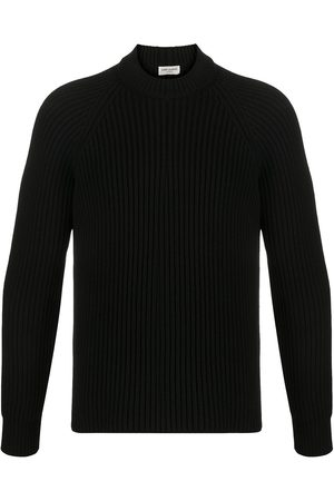 Saint Laurent Ribbed crew neck jumper