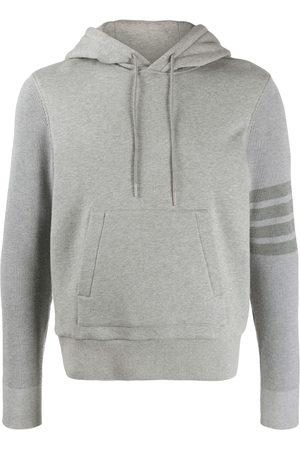 Thom Browne Men Hoodies - 4-Bar loopback hoodie - Grey