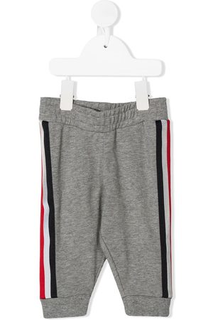 Moncler Pants - Stripe trim sweatpants - Grey