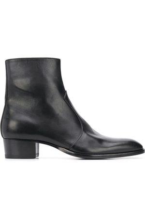 Saint Laurent Wyatt 40 zip boots