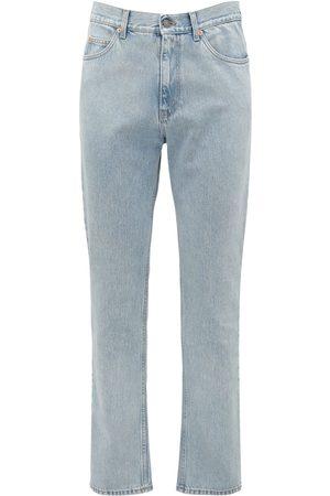 Gucci 20cm Logo Detail Cotton Denim Jeans
