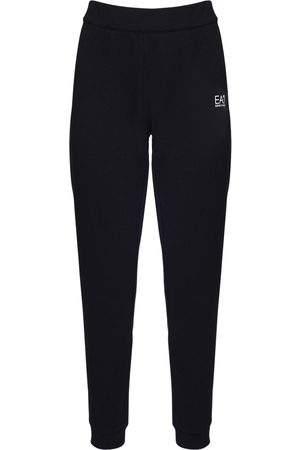 EA7 Logo Velour Sweatpants