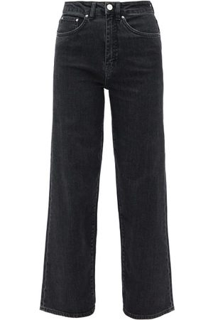 Totême Women High Waisted - Flair High-rise Wide-leg Jeans - Womens - Grey