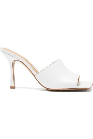 Bottega Veneta Stretch Square-toe Leather Mules - Womens