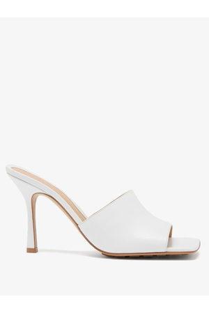 Bottega Veneta Women Mules - Stretch Square-toe Leather Mules - Womens