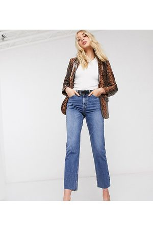 Topshop Straight leg jeans in mid wash