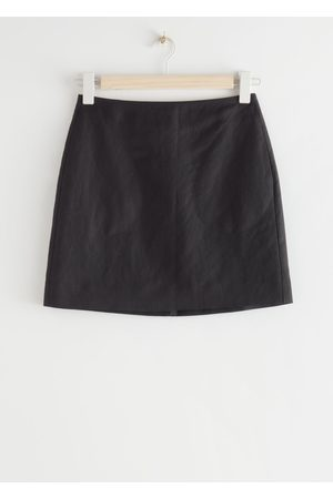 & OTHER STORIES Linen Blend A-Line Mini Skirt