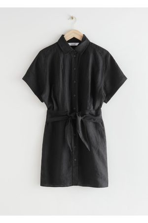 & OTHER STORIES Belted Linen Mini Dress