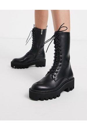 Lamoda Unforgiven High military calf boots in