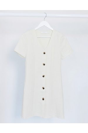 Vila Mini dress with button through in cream