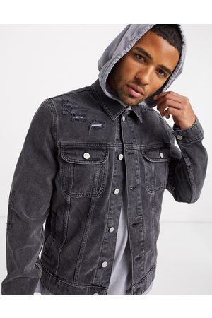 ASOS Denim Jackets - Denim jacket in washed with rips