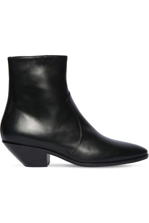 Saint Laurent 45mm Western Leather Ankle Boots
