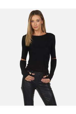 Michael Lauren Women Long Sleeve - Solomon Core Fitted Tee - XS