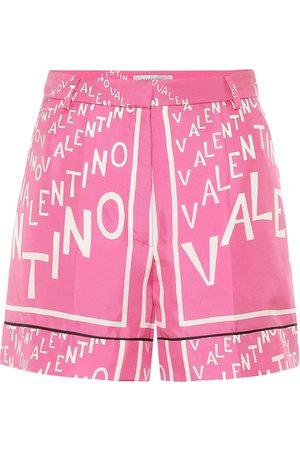 VALENTINO Exclusive to Mytheresa – Printed silk shorts