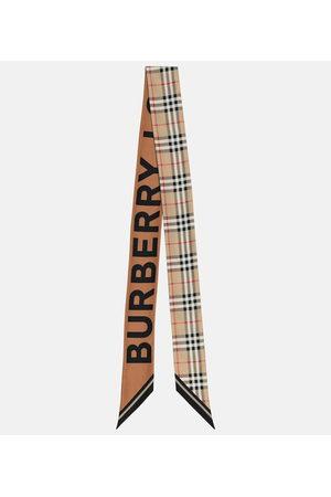 Burberry Check silk scarf