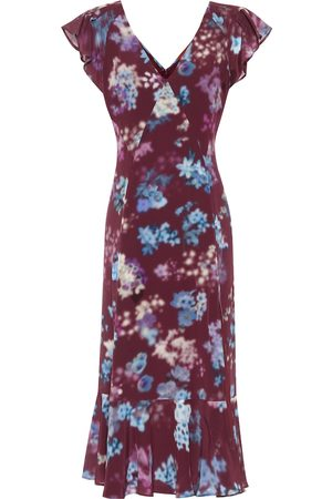 Altuzarra Floral silk-crêpe midi dress