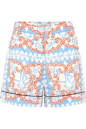 VALENTINO Exclusive to Mytheresa – Printed high-rise cotton shorts