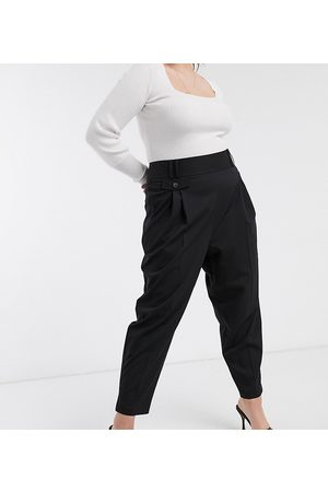 ASOS ASOS DESIGN Curve tailored smart high waist balloon pants