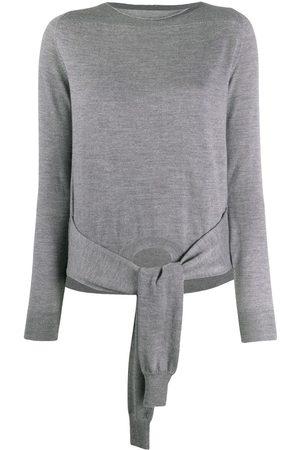 MM6 MAISON MARGIELA Tie waist sleeves detail jumper - Grey