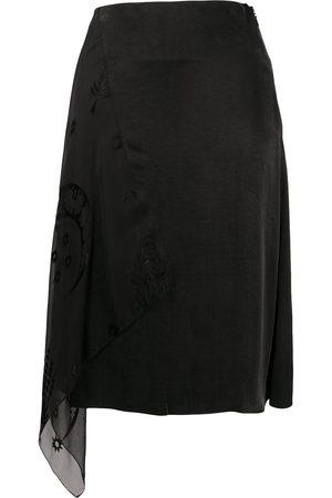 Marine Serre Asymmetric layered skirt