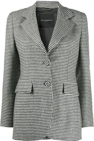 ERMANNO SCERVINO Checked tailored blazer