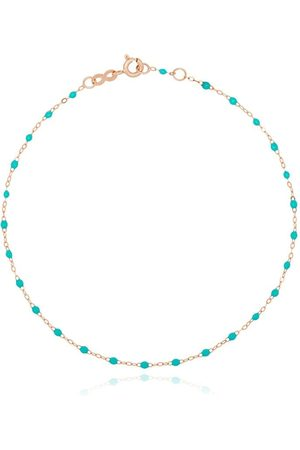 GIGI CLOZEAU 18kt rose beaded anklet - ROSE