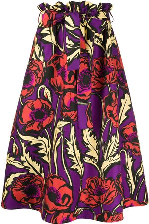 La Doublej Women Midi Skirts - Big Blooms A-line midi skirt
