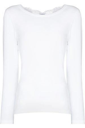 La Perla Souple lace-trim cotton pyjama top