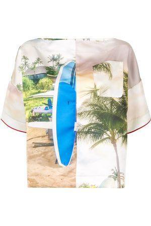 Nº21 Surf-print T-shirt - Multicolour