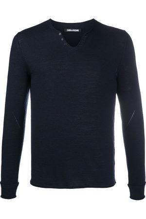 Zadig & Voltaire Monastir Henley-neck sweater