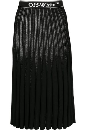 OFF-WHITE Metallic knitted pleated skirt