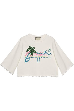 Gucci Hawaii cropped sweatshirt