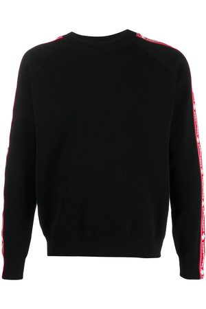Dsquared2 Logo stripe crew neck jumper