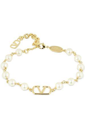 VALENTINO GARAVANI Women Bracelets - V Logo & Imitation Pearl Bracelet