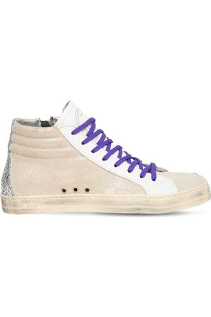P448 20mm Skate Glittered Leather Sneakers