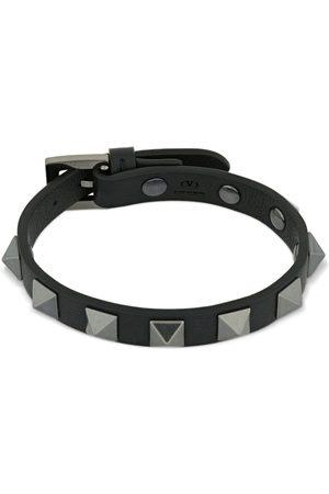 VALENTINO GARAVANI 1cm Rockstud Leather Bracelet