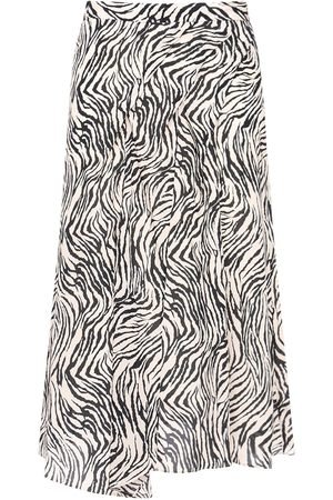 Isabel Marant Cacia Printed Stretch Silk Midi Skirt