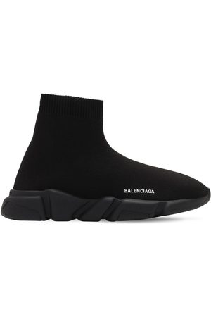 Balenciaga Girls Flat Shoes - Speed Knit Slip-on Sneakers