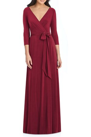 Dessy Collection Women's Jersey Tie Waist Gown