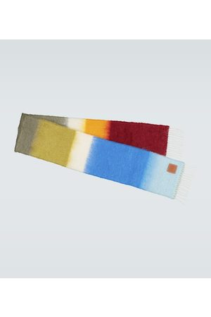 Loewe Mohair-blend striped scarf