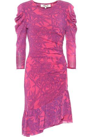 Diane von Furstenberg Lila floral mesh minidress
