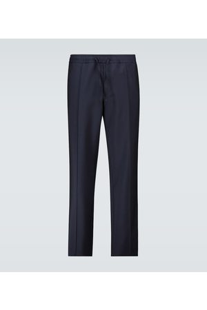 VALENTINO Wool and mohair drawstring pants