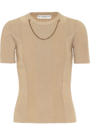Givenchy Embellished rib-knit top