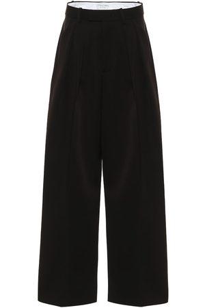 Bottega Veneta High-rise wool wide-leg pants