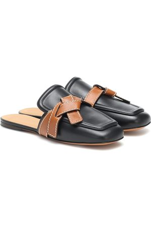 Loewe Gate leather slippers