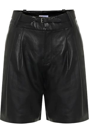 RED Valentino Belted leather Bermuda shorts