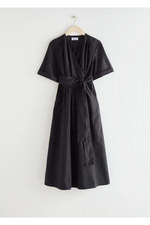 & OTHER STORIES Voluminous Wrap Midi Dress